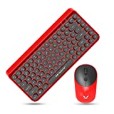 LayOPO Wireless Keyboard and Mouse, 2.4G Retro Wireless Keyboard and Mouse Combo
