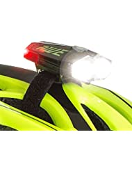 AWE® awedual 80 lúmenes 360 ° + TM USB Batería para bicicleta doble casco luz delantera/trasera