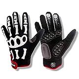 YZPST Fahrradhandschuhe beziehen Sich auf Herren-Mountainbike-Handschuhe mit Langen Fingern und winddichtem, warmem Touchscreen-Handschuh (größe : XXL)