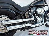 Harley Davidson Softail 2007 Zard Coppia Silenziatori Racing Lucidati Specchio Exhaust