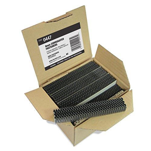 Tacwise Boîte de 1 500 Attaches Ondulées 9mm Acier Galvanisé
