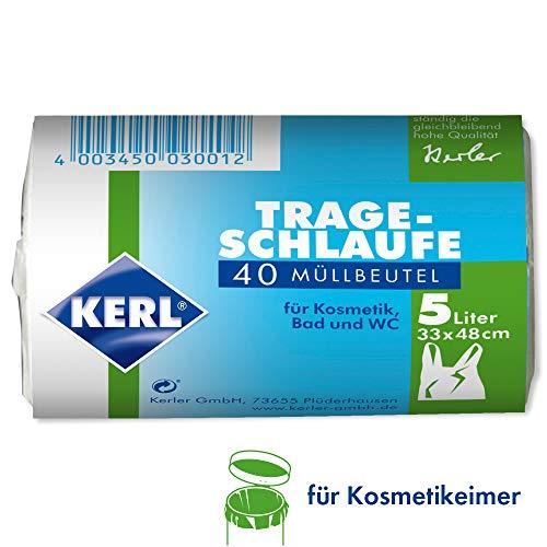 Kerl 4003450030012 - Bolsas de basura (5 L, 40 unidades, para cubo de basura, 33 x 48 cm, polietileno de alta densidad)