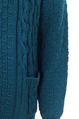 Lets Shop Shop - Gilet - Femme Multicolore bigarré Taille Unique bleu sarcelle