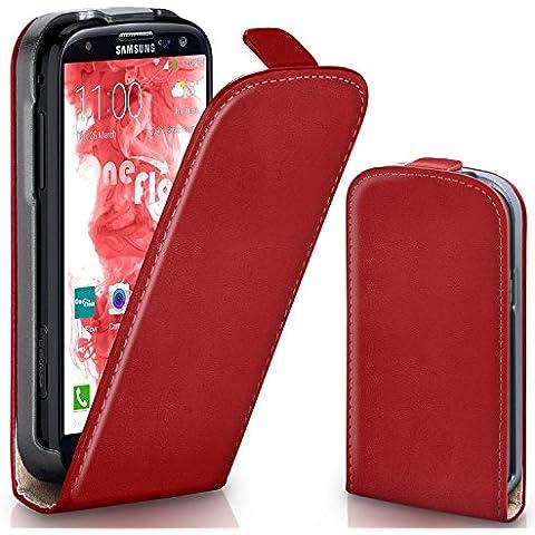 Bolso OneFlow para funda Samsung Galaxy S3 / S3 Neo Cubierta con imán | Estuche Flip Case Funda móvil plegable | Bolso móvil protección móvil paragolpes funda protectora con cubierta en Rosso