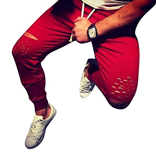 Juleya Vetements de Sport Homme Pantalons Jogging Slim Fit Pantalons décontractés Pantalons d'entraînement Doux Pantalons Confortables Pantalons Sport