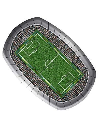 Fußball Party Teller 18x27 cm (8 Stück)
