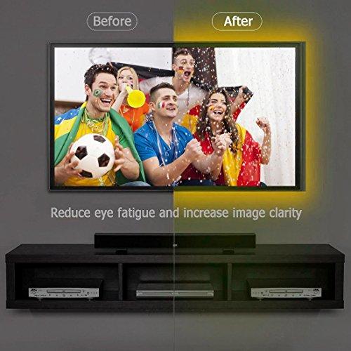 Vansky® Led Retro TV Bias Light, Strisce Led Illuminazione Retro TV, RGB Retroilluminazione TV Illuminazione per Interni con Telecomando per TV, PC Desktop