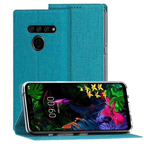 Eastcoo LG G8s ThinQ Hülle,LG G8s ThinQ Wallet Handyhülle PU Leder Flip Case Tasche Cover Schutzhülle mit [Standfunktion][Magnetic Closure][Card Slots] für LG G8s ThinQ Smartphone,Blau