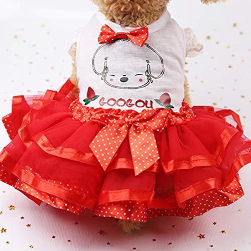 Fannty Hundekleid für Katze Haustier Prinzessin Hund Rock Kleid Perle Hund Hochzeit Kleid Sommer Hund Kleidung -