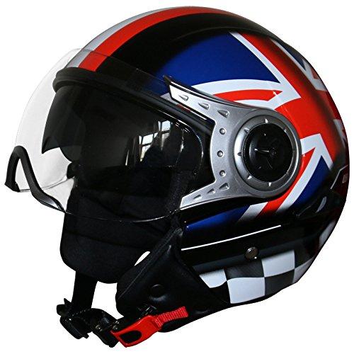 5d4889c7 Leopard Leo-612 Double Visor Open Face Motorbike Motorcycle Helmet Road  Legal - #4