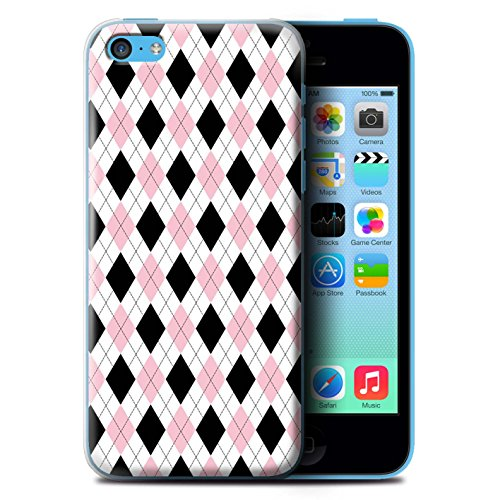 Coque de Stuff4 / Coque pour Apple iPhone 6 / Zig Zag Bleu Design / Mode Hivernale Collection Argyle Rose