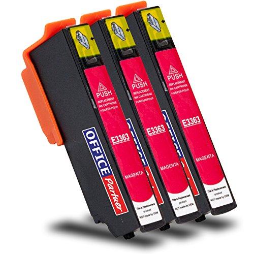3x Cartucce Compatibili Epson T3363 magenta 12ml per stampanti Epson Expression Premium XP-530, XP-540, XP-630 Series, XP-635, XP-640, XP-645, XP-830, XP-900