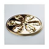 8 Disposable Plastic Oyster Plates 26 cm Gold