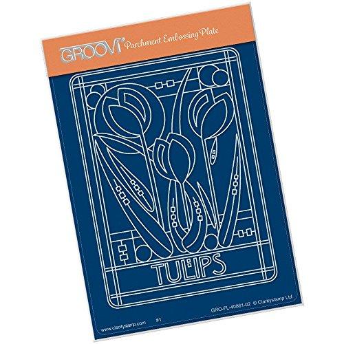 Klarheit Briefmarken Jugendstil Tulpen A6Groovi Teller