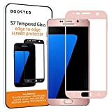 Samsung Galaxy S7 Full Screen Atténuée Glass Screen Protector, 9nonies Hardness et Anti Fingerprint Oleophobic Coated-Rose Gold