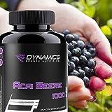Nutrition Dynamics Acai Berry 120 Capsules - Orginal Acaipulver - Idéal dans l'alimentation - doses élevées forces immunitaires et perdre du poids rapidement
