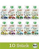 Pumpkin Organics QUERBEET Bio Baby-Brei Quetschbeutel 10er Pack (10x100g) - Snack für Kinder und Babys ohne Zusatzstoffe ab dem 12. Monat
