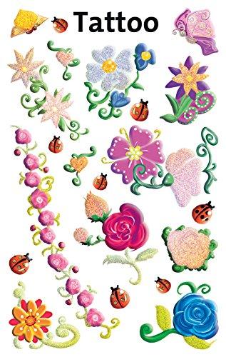 Preisvergleich Produktbild Avery Zweckform 56691 Kinder Tattoos Blumen (temporäre Transferfolie, dermatologisch getestet) 20 Aufkleber