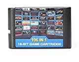 196 en 1 Cartucho de tarjetas Multi Games 16 Bit para Sega Mega Drive MD para PAL y NTSC