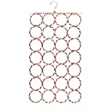 #10: Okayji Folding Rope Hanger for Scarf, Belts, Shawls, Ties and More 28 Rings, Multicolour, Random Colour