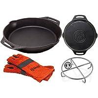 Set Petromax Feuerpfanne fp35h + Handschuhe + Untersetzer
