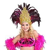 NET TOYS Samba Kopfschmuck Federschmuck Rio Salvador Federkopfschmuck Brasilien Feder Kopf Schmuck Burlesque Haarband Kostüm Accessoires