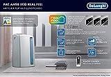 De'Longhi Pinguino PAC AN98 ECO Silent - mobiles Klimagerät mit Abluftschlauch, Klimaanlage für Räume bis 95 m³, Luftentfeuchter, Ventilationsfunktion, 24h-Timer, 2,7 kW, 75 x 45 x 39,5 cm, weiß/blau - 8