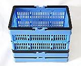 3x Alpfa Einkaufskorb 16L mit Henkel klappbar Kiste Box Einkaufskiste Einkaufsbox