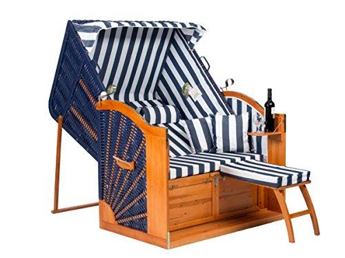 Strandkorb Binz in Blau Komplett montiert als Ostseemodell 4