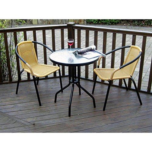 Homehardware Steel/Rattan Bistro Set 3 Piece 60Cm Table 2825634