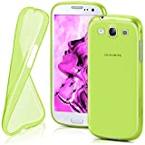 moex Samsung Galaxy S3 | Hülle Silikon Transparent Grün Clear Back-Cover TPU Schutzhülle Dünn Handyhülle für Samsung Galaxy S3 / S III Neo Case Ultra-Slim Silikonhülle Rückseite