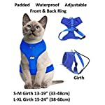 Dexil Luxury Cat Harness Padded and Water Resistant (Pink S-M) 7