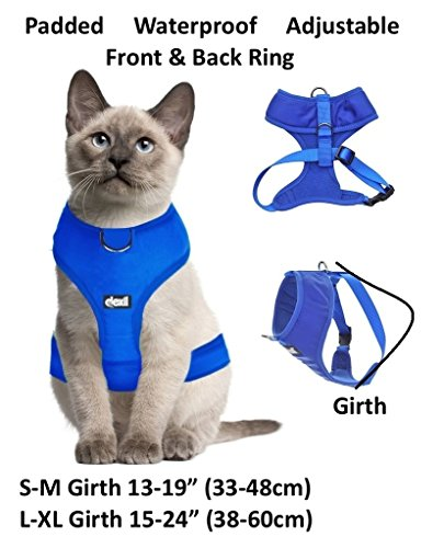 Dexil Luxury Cat Harness Padded and Water Resistant (Pink S-M) 3