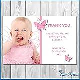 10x personalisierbar Thank You Geburtstag Karten Butterfly, für My Geschenke Party durch (bty6–10)