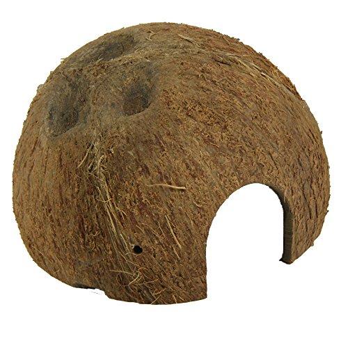 JBL 61510 Kokosnuss-Schale als Höhle für Aquarien und Terrarien, Cocos Cava 1/2 L -