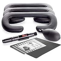 KIWI design Foam Coussin pour le visage pour HTC VIVE Remplacement 18mm / 12mm / 6mm avec des kits de nettoyage