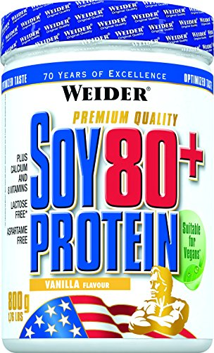 Pure Protein Vanille Vitamine (Weider, Soy 80 Plus Protein, Vanille, 1er Pack (1x 800g))