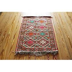 110 cm x 70 cm Alfombra Oriental, Kelim, Kilim, Carpet,Manta al Suelo , Rug nuevo de Damaskunst S 1-2-9