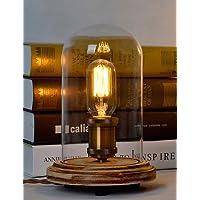 MZMZ regali di Natale Natale tecnica di Illuminazione Deco scrivania in legno lampade in vetro trasparente abat-jour base tavolo della lampadina delle luci di luce di legno lampade da lettura , 220-240V