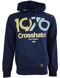 Crosshatch Retroblasy Mens Long Sleeved Pullover Hoodie Sweatshirt Hooded Jumper