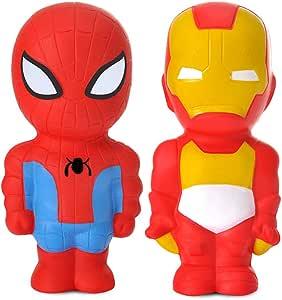 Superheld Squishies Spielzeug, Spiderman Iron Man Langsam steigendes Squishy Set Kawaii Squeeze Spielzeug Office Stress Toy Combo (Held a)