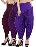 Fashion And Freedom Women's Pack of 3 Maroon, Purple And Violet Viscose Dhoti