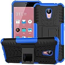 """Funda Meizu M2 Note, SsHhUu Heavy Duty Amortiguamiento Cubrir Doble Capa Combinaci¨®n de Armadura con Soporte Protector Cubrir Case para Meizu M2 Note / Meizu Azul Charm Note2 (5.5"""") Azul"""