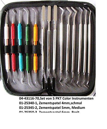 14 Teilen, Zahntechnik, Zahnlabor Zahnpraxis.PKt Instrumenten Color set ,Zemenspatel, Heidemannspatel, Zahnstopper Wir Verkaufen und Verrechnen laut § 19, ohne MwSt.