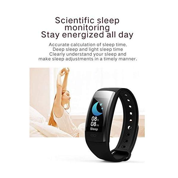 DokFin Pulseras Inteligentes, Fitness Tracker HR con Monitor de Ritmo cardíaco Reloj Rastreador de Actividad Reloj con… 7