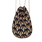 GXYCP Bündel Tasche Für Frau und Mann Skelett Taille Tasche Leinwand Freizeit-Tutorial-Tasche,A