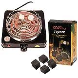 Pre&Mium Elektrischer Kohleanzünder Shisha Kohle Grill 1000 W Heizplatte Brenner E-Heater Kohlebrenner (Kohleanzünder+Kohle)