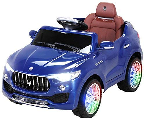 Actionbikes Motors Kinder Elektroauto Maserati Levante SUV Lizenziert Original Kinderelektroauto Kinderfahrzeug Auto (Blau)