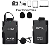 #10: New BOYA BY-WM4 Universal Lavalier Wireless Microphone Mic with Real-time Monitor for IOS iPhone 7 7 plus 6 6s Smartphone iPad Tablet DSLR Camera Sony RX0 Camcorder Audio Recorder PC Video