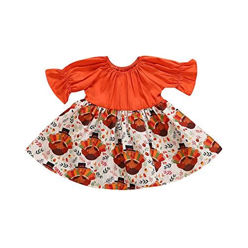 Venmo Neugeborene Kinder Baby Mädchen Thanksgiving Truthahn Party Festzug Kleid Sommerkleid Kostüme Karneval Fasching Weihnachten Ballettkleid Party Hochzeit Tutu Strampler (Thanksgiving Kostüme)